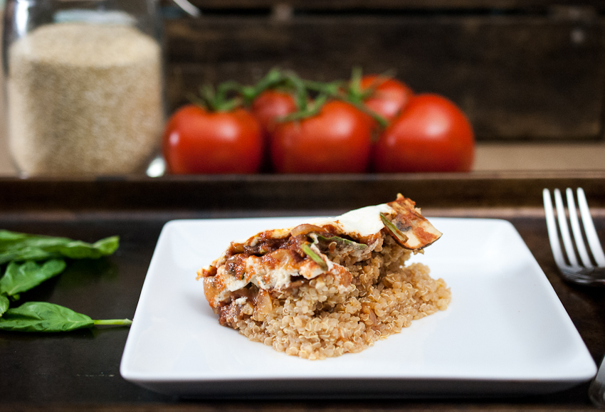 quinoa lasagne