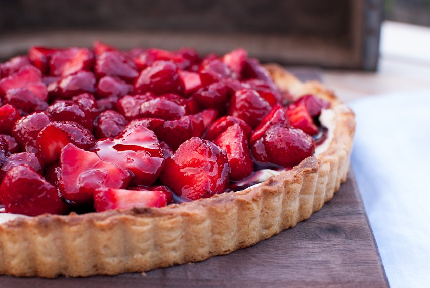 Strawberry Tart with Mascarpone Cheese