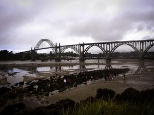 Newport bridge over Yaquina Bay, OR