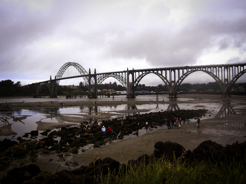 Newport bridge over Yaquina Bay, OR