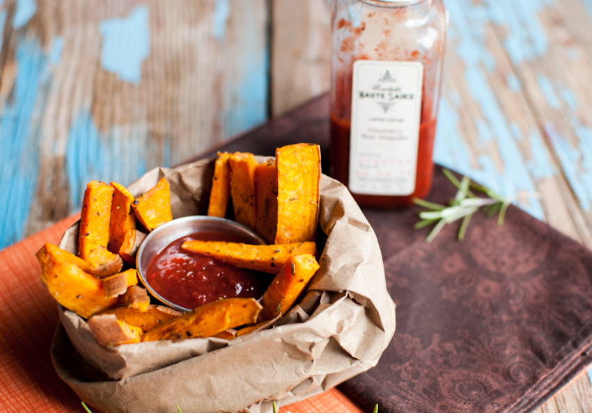 Sweet Potato Fries with Marshall's Haute Sauce