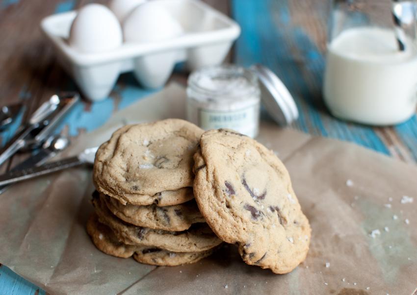 Chocolate Chip Cookies with Jacobsen Vanilla Bean Salt