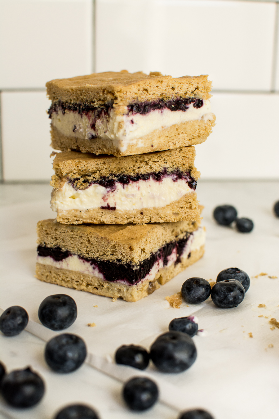 lemon blueberry ice cream sandwiches