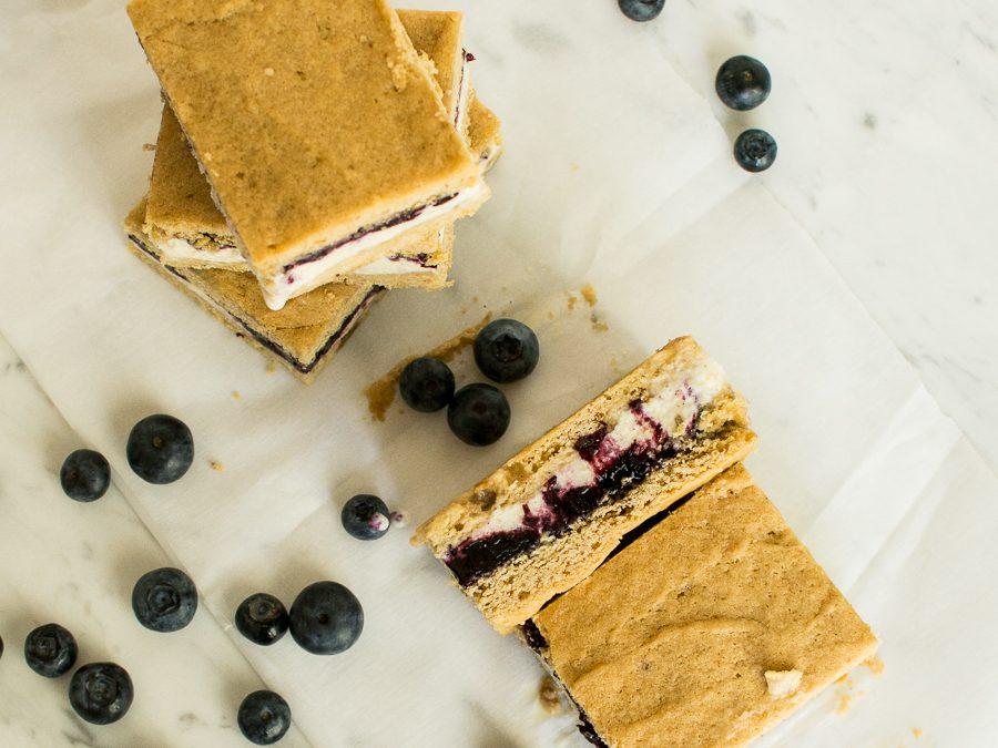 Lemon Blueberry Ice Cream Sandwiches