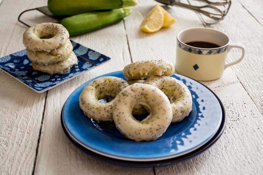 lemon poppyseed zucchini donuts