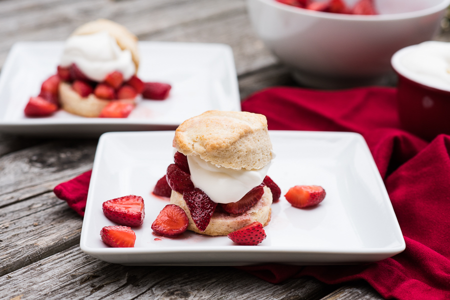 Strawberry Shortcake with Snickerdoodle Scones