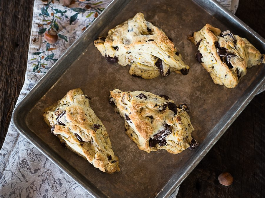 Hazelnut Chocolate Orange Scones
