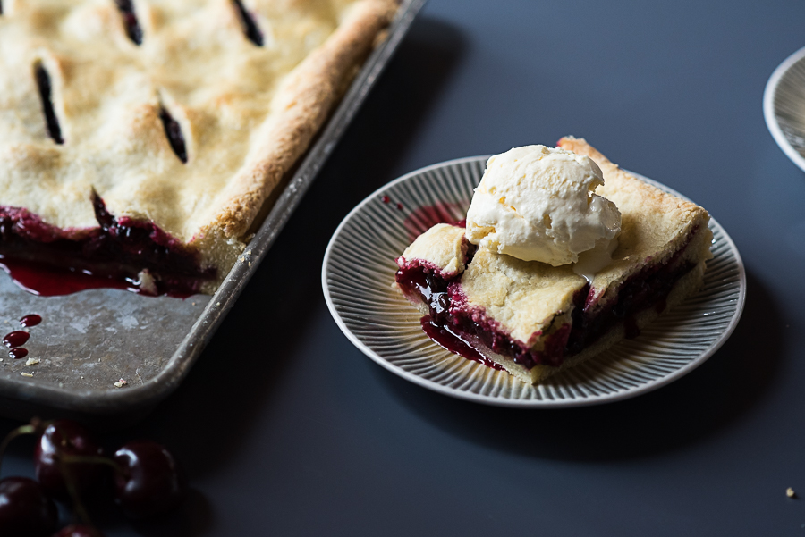 Triple Berry Chocolate Slab Pie