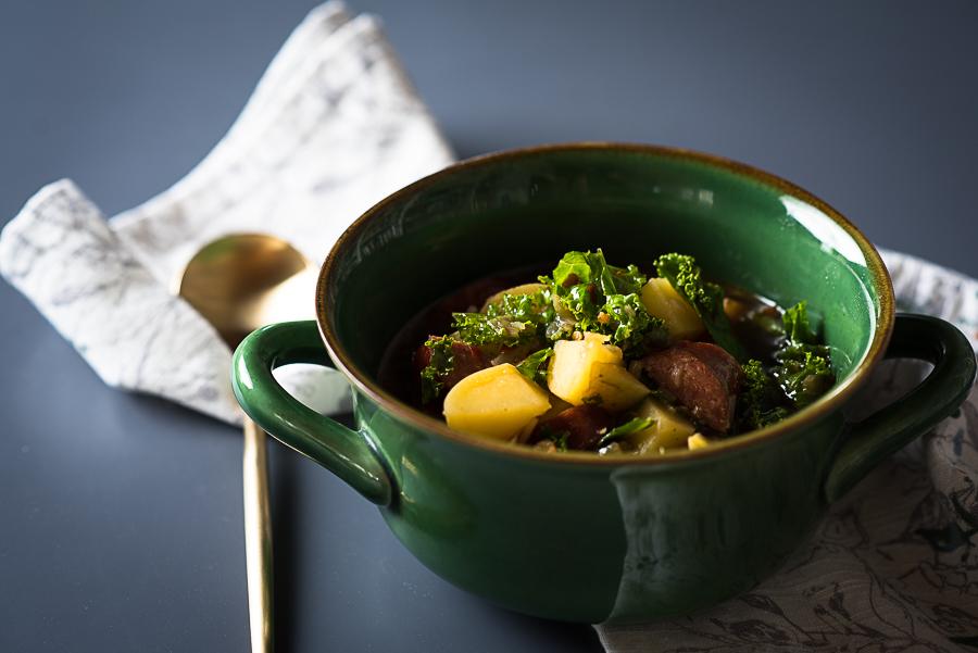Kale Linguica Soup